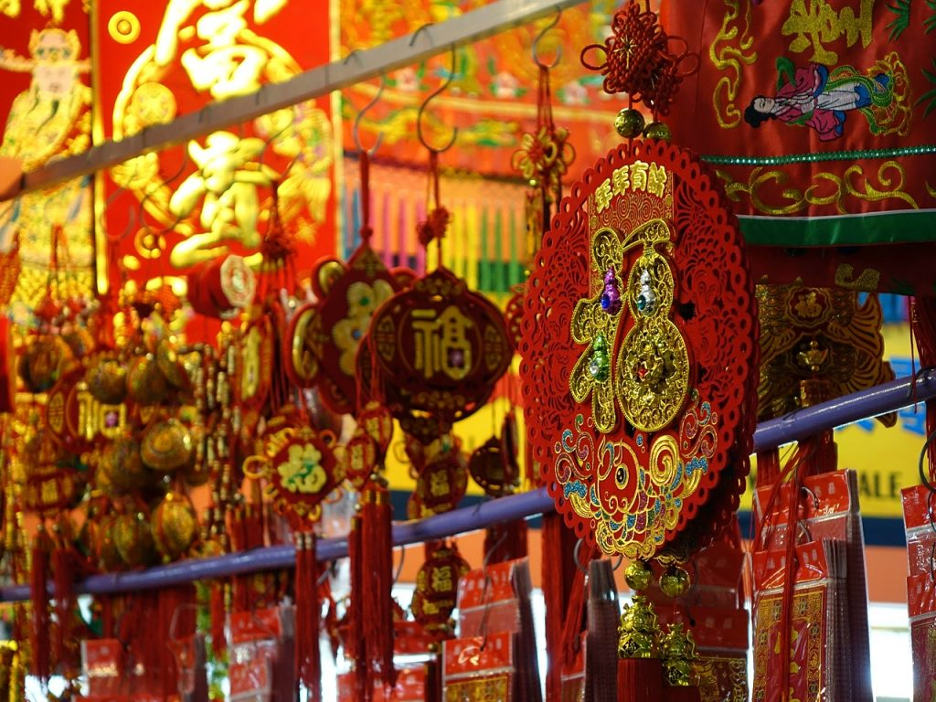 singapore, china town, colorful